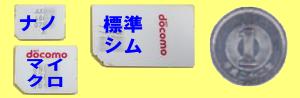 格安SIMカードとサイズ。ナノSIM、マイクロSIM、標準SIM